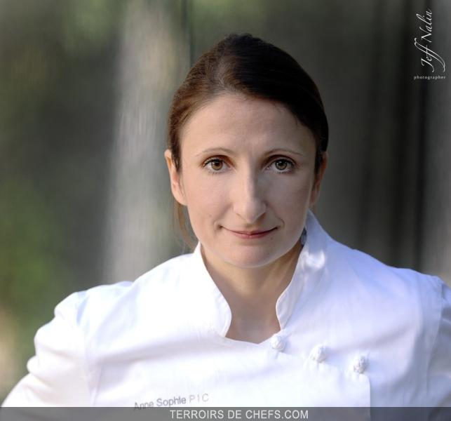 Portrait De Chef Cuisinier Anne Sophie Pic