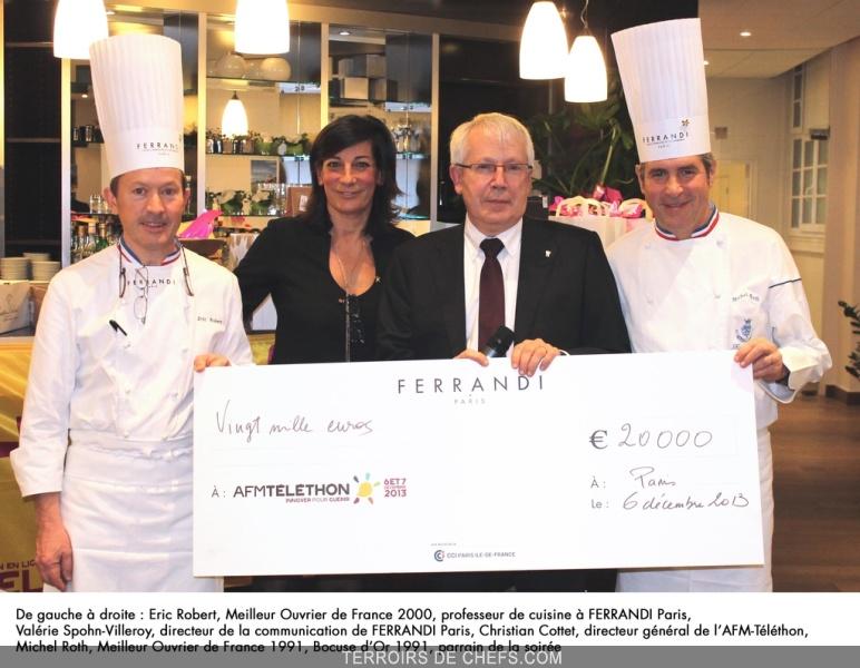 L Ecole De Cuisine Ferrandi Offre 20 000 Euros A L Afm Telethon