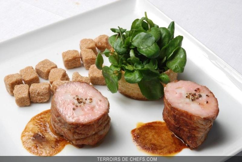 Filet de veau au caramel amer un quilibre entre l 39 amer et - Recette de cuisine gastronomique de grand chef ...