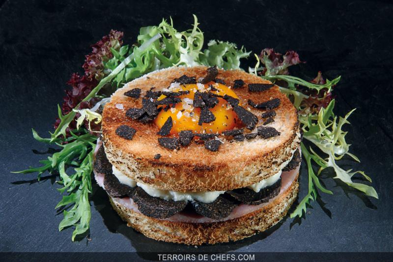 recette chef pascal ladogne croque monsieur truffe. Black Bedroom Furniture Sets. Home Design Ideas