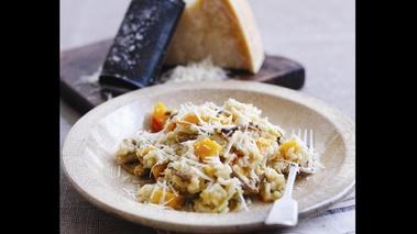 recette risotto laura zavan parmesan butternut champignons. Black Bedroom Furniture Sets. Home Design Ideas
