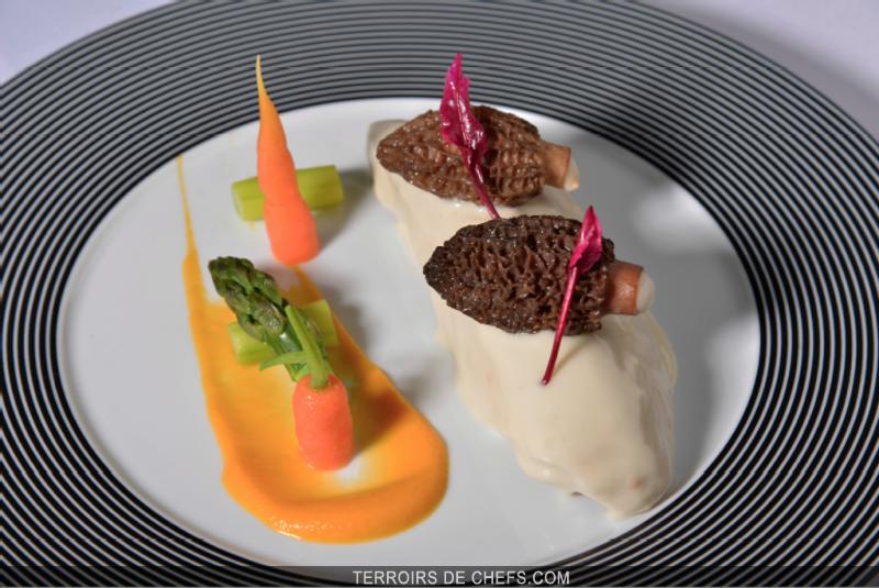 Filet mignon de veau morilles farcies au foie gras et - Recette de cuisine gastronomique de grand chef ...