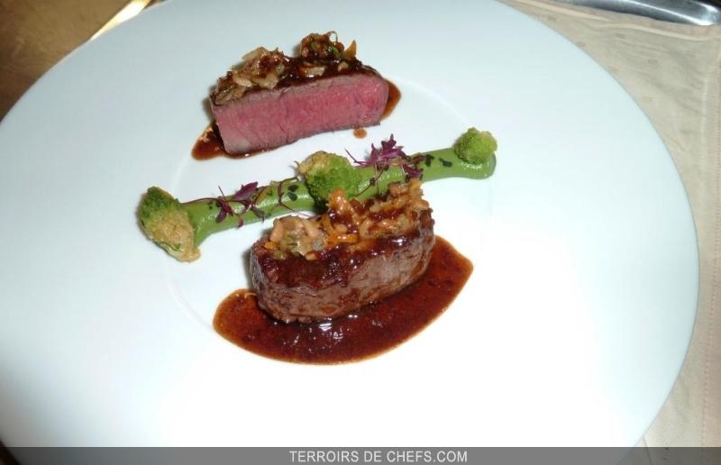 B uf charolais chutney l 39 amande grill e et son jus - Recette de cuisine gastronomique de grand chef ...