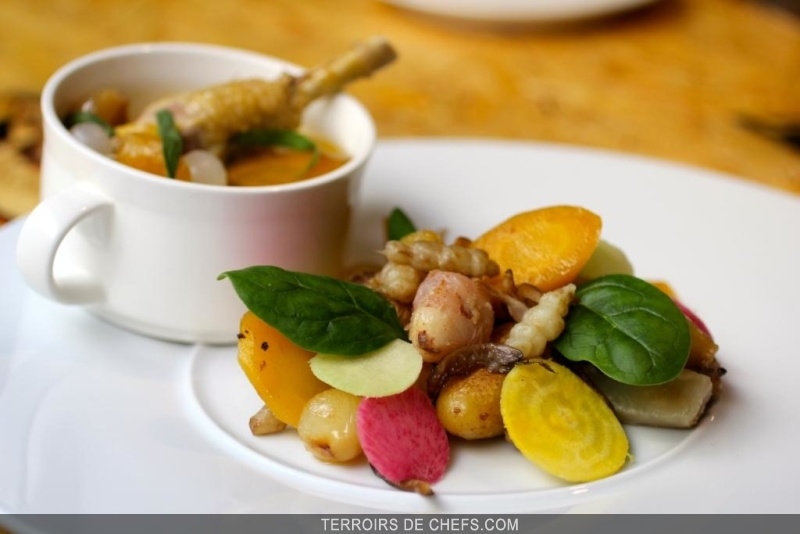 Recette chef simon carlier blanquette veau crosnes - Recette de cuisine blanquette de veau ...