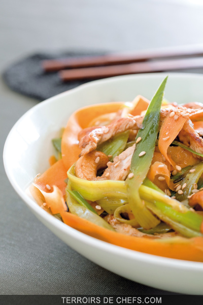 Wok de l gumes d 39 hiver for Cuisinier wok